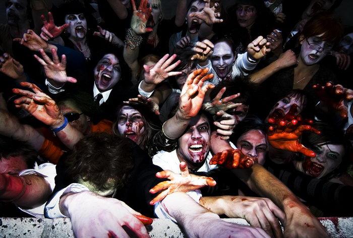 Зомби парады в Европе Италия