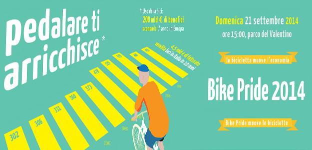 Велосипедный парад Турин Италия 2014
