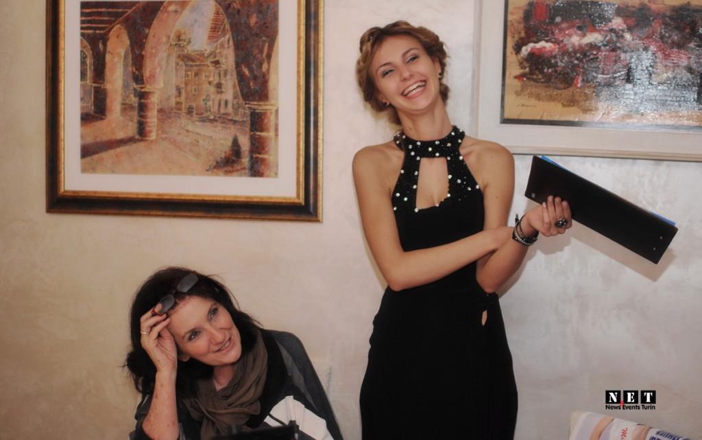 Организатор и ведущая конкурса красоты в Италии