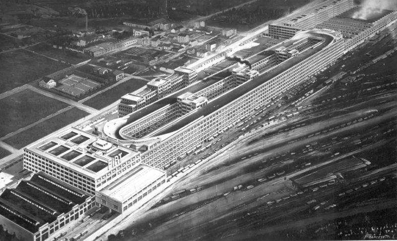 Завод ФИАТ в Турине как выглядела раньше территория