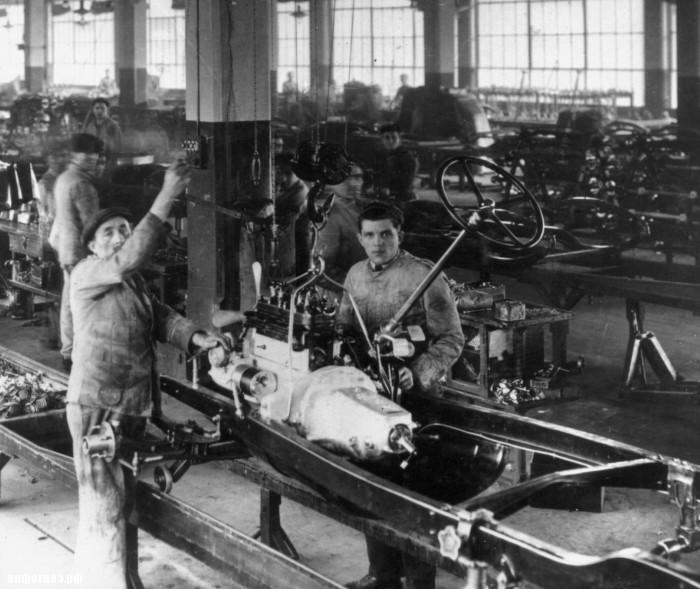 Фиат Турин Линготто 1925 сборочный цех исторические фото
