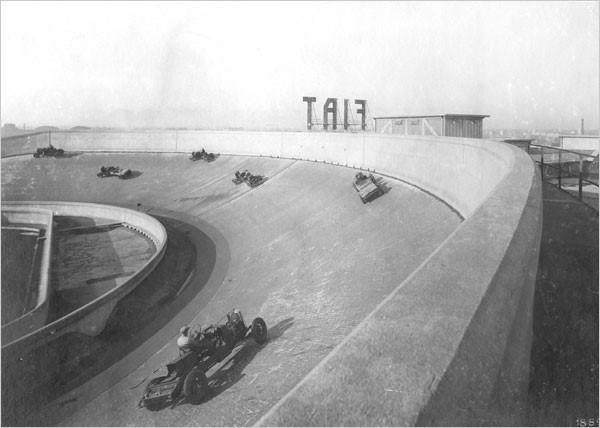 Фабрика фиат гонки на крыше