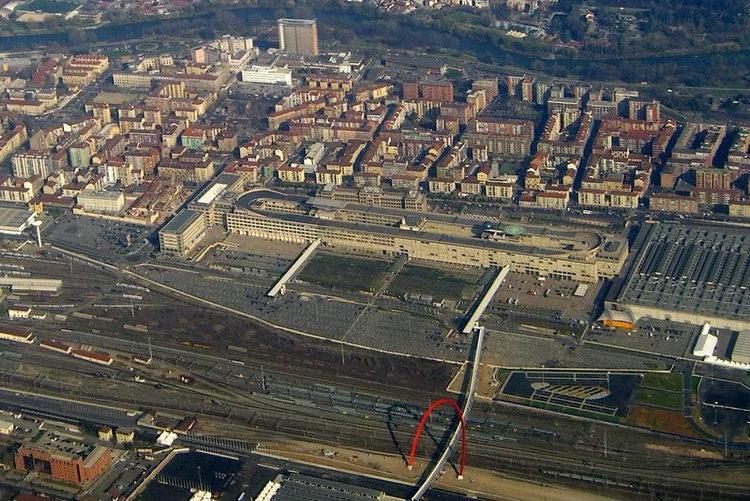 Zona Lingotto Fiat-Turin vid sverhu