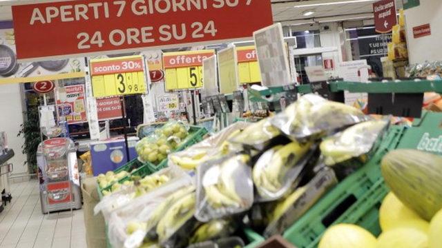 Круглосуточный супермаркет в Турине новый магазин с обслуживаем 24 часа в сутки.