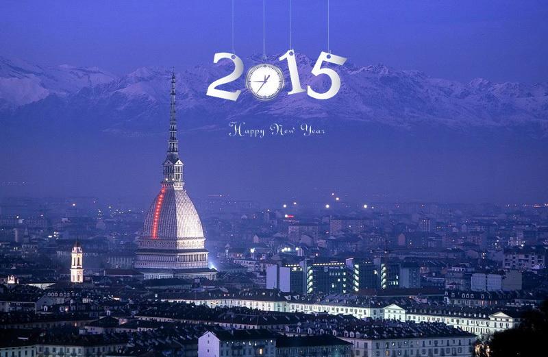 Встреча Нового года в Турине 2015