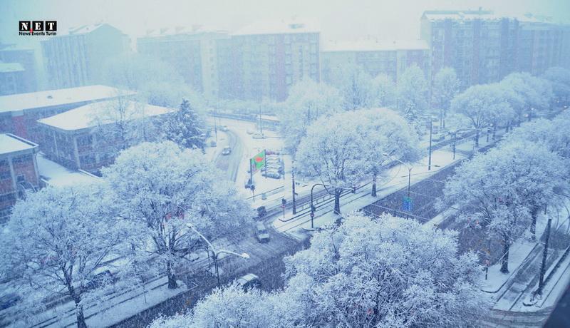 В Турине выпал снег