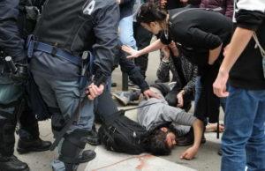Стычки с полицией в Турине - визит националиста Salvini