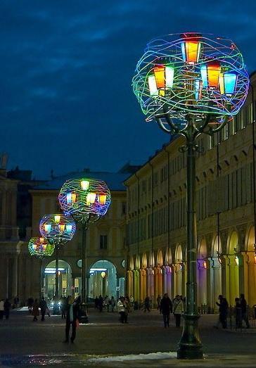 Город Турин на рассвете площадь Сан Карло