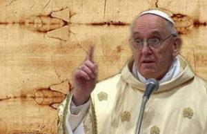 Папа Римский визит в Турин поклонение Плащанице