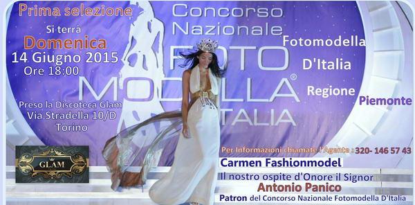 Miss Fotomodella d'Italia 2015 Glam Torino