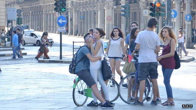 Гуляя по улицам Турина Италия Фото