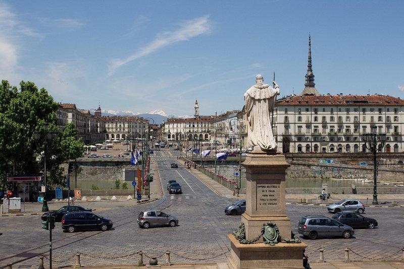 Площадь Витторио Венето Турин за один день