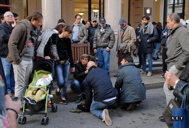 Происшествия в Турине человек упал в обморок Италия