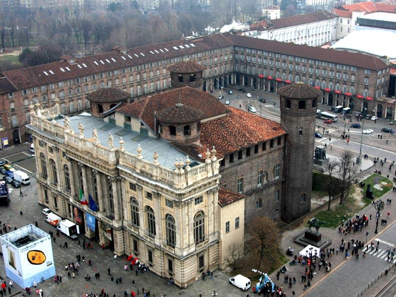Турин туристический город дворец Мадама вид сверху