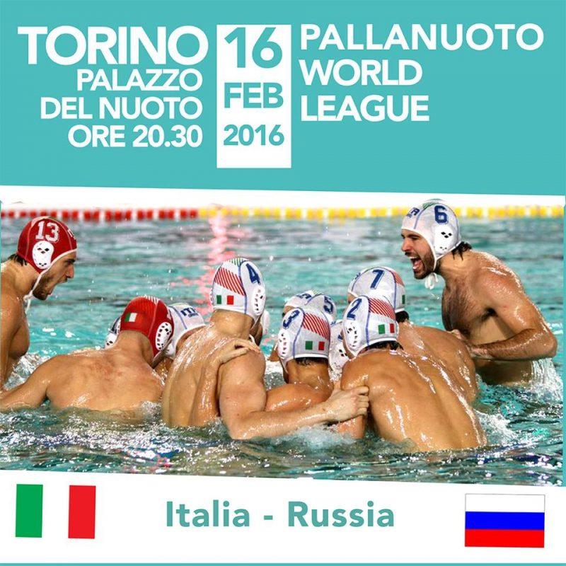 Мировая лига по водному поло 2016 года Settebello возвращается в бассейн Турина в матче против России: встреча 16 февраля в дворце Palazzo del Nuoto