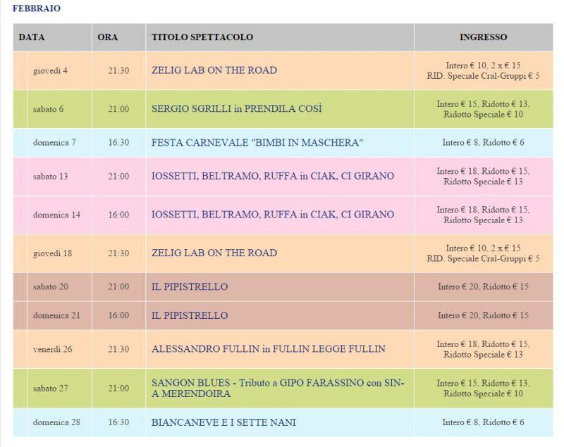 Расписание спектаклей Турина в феврале театр Алфа