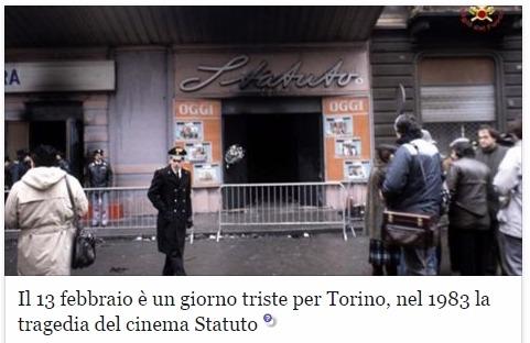 Пожар в кинотеатре Турина Италия трагедия