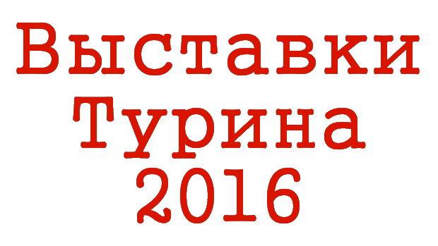 Все выставки Турина 2016