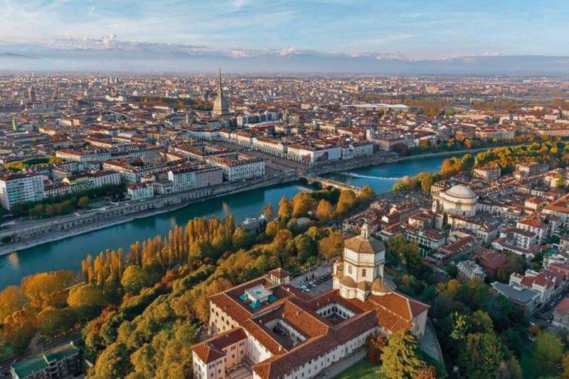 Город Турин столица Пьемонта панорама