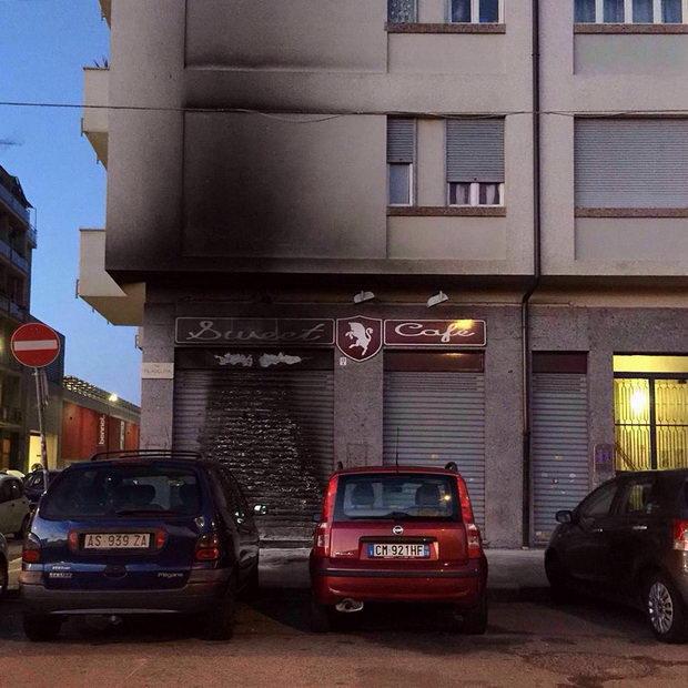 пожар футбол италия турин бар кафе