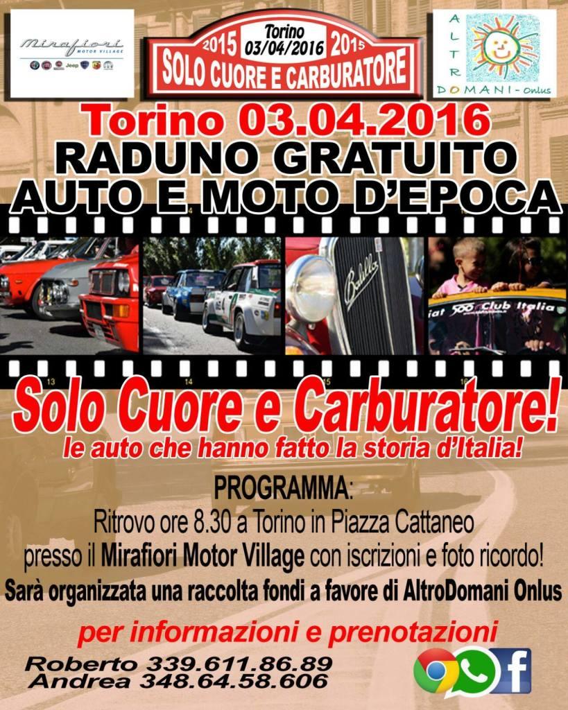 Raduno auto e moto Torino Italia 2016