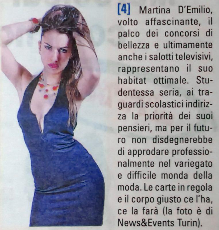 Martina d'Emmilio News Events Turin Конкурс красоты фотомодель в Италии