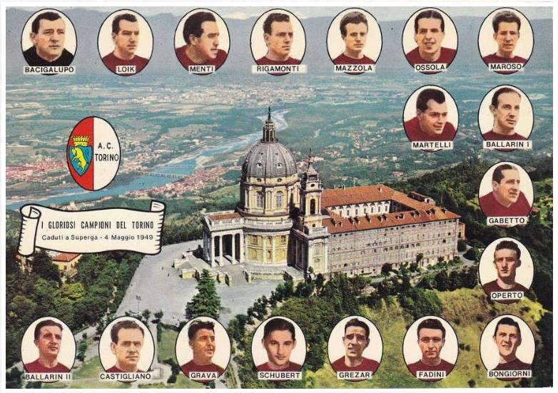 Самолет потерпевший авиакатастрофу в Турине церковь Суперга 1949 футбол Италия