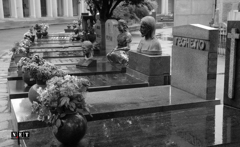 Кладбища Турина Италии Пьемонт