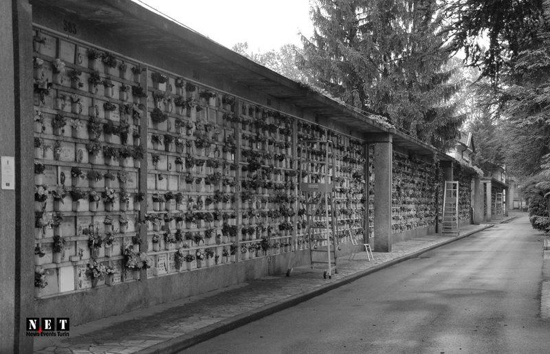 Алея с прахом урны Турин кладбище