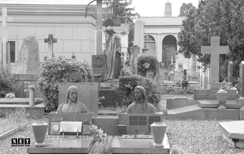 Кладбища монументы города Турин Италия