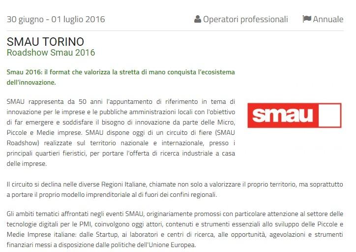SMAU TORINO 2016 LINGOTTO FIERE TORINO