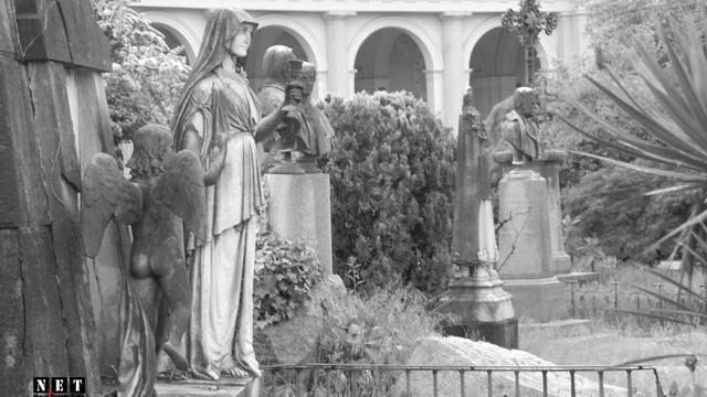 Монументальное кладбище Турина, фотографии сделанные на ходу