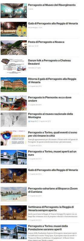 Праздник преображение в Турине в августе куда пойти Турин Италия