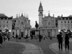 Улицы в центре Турина в фотографии