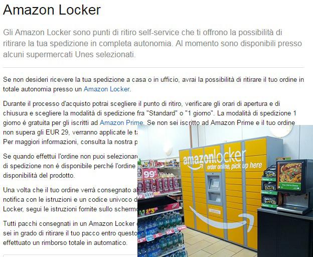 Амазон новые точки получения товара в Италии