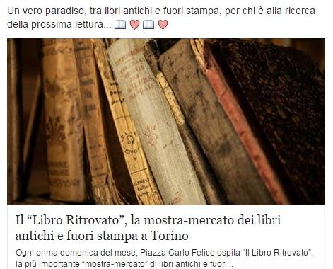 Чтение книг в Турине рынок книги