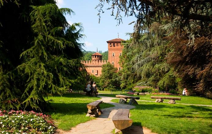 Туринский университет в Турине парк Валентино