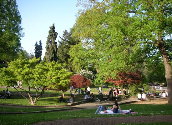 БОтанический сад в парке Валентино в Турине