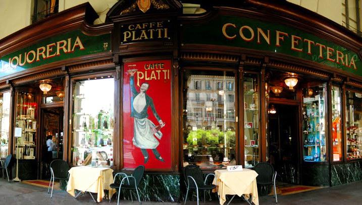 один из исторических баров кафе Турина