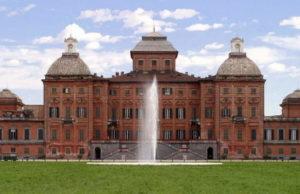 Королевский замок Racconigi в Пьемонте Север Италии дворцы