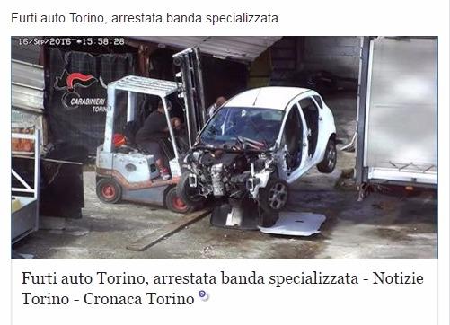 Автоугон в турине пьемонте италия