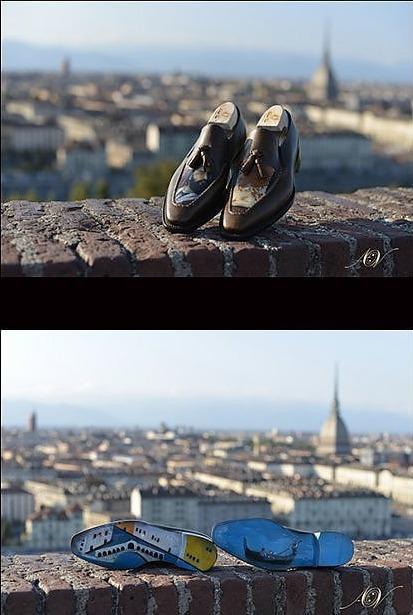 Золотые и платиновые туфли в Турине 24 карата