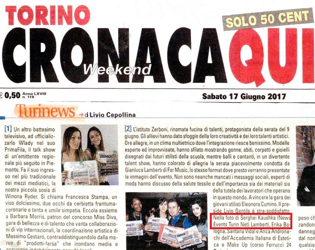 Fotografo professionista Torino su revista TuriNews