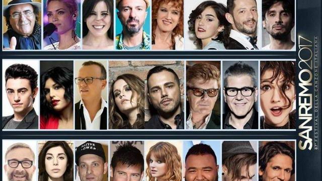 Фестиваль песни Сан-Ремо 2017 список участников