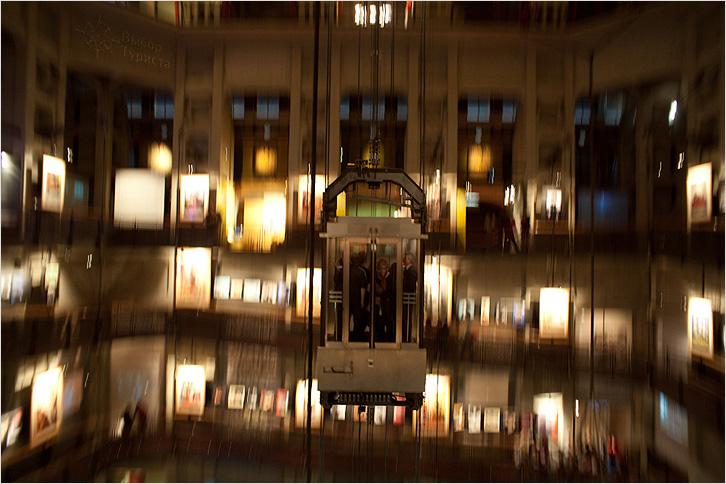 Панорамный лифт моле антонеллиана музей кино Турин
