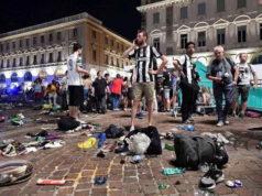 Ложная тревога бомбы в Турине, тысячи раненых при созданной панике и давке.
