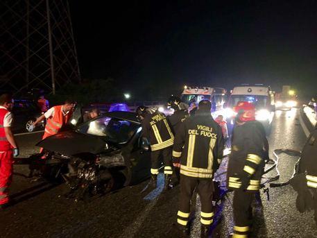 Дорожно транспортное происшествие в Турине Италия