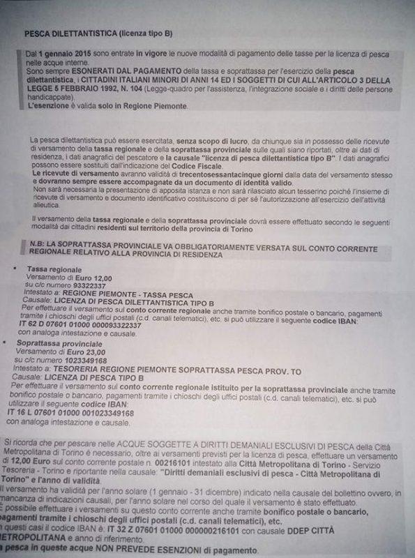 Рыбалка в Италии Турин Пьемонт получить лицензию