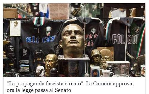 Италия запретила фашистскую символику