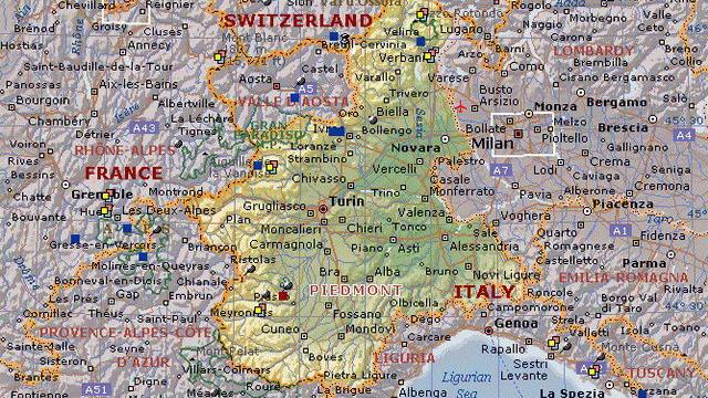 Города Пьемонта и провинции Турина Север Италии города